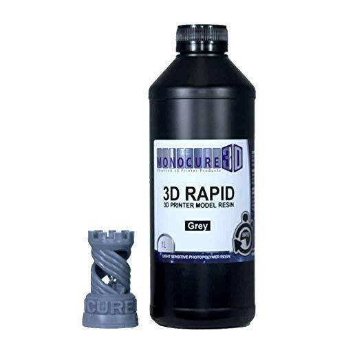 Monocure3D 3DR3588GY-1000 Rapid Resin, 1 L, 34 oz, Grey