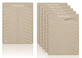 BRAWNA 5pcs Eyebrow Microblading & Microshading Practice Skin Double sided No Ink Needed| Microblading Supplies
