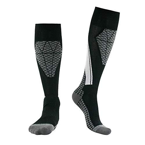 YLiansong-home Men's Warm Ski Socks Outdoor Sports Ski Socks Moisture Wicking Hiking Trekking Gifts for Women Men Support Ski Socks (Color : Black, Size : 45-47yards)