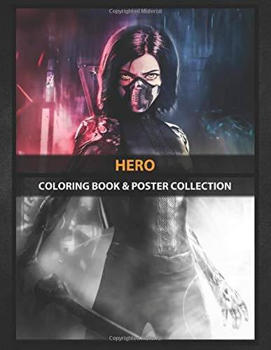 Coloring Book & Poster Collection: Hero Alita Battle Of Angels Anime & Manga