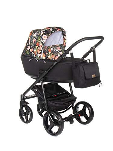 Kinderwagen Buggy Kombikinderwagen Adamex Reggio Special + XXL ZUBEHÖR SET (Flowers Collection, 2in1)