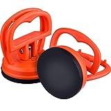 2 Pièces 5.5 cm Dent Pullers Ventouses de Voiture Ventouses de Réparation Puller Removal Tool, Orange