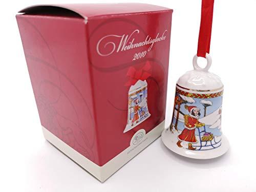 Hutschenreuther Weihnachtsglocke 2010 Im Zimmerwald, mit Originalverpackung, Porzellanglocke Weihnachten Baumschmuck Glocke Design von Ole Winther / Porcelain bell / Campanella porcellana