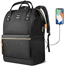 Hethrone Womens Laptop Backpack 15.6 Inch Stylish Anti Theft Casual Travel Computer Rucksack Water Repellent School Backpack with USB Black
