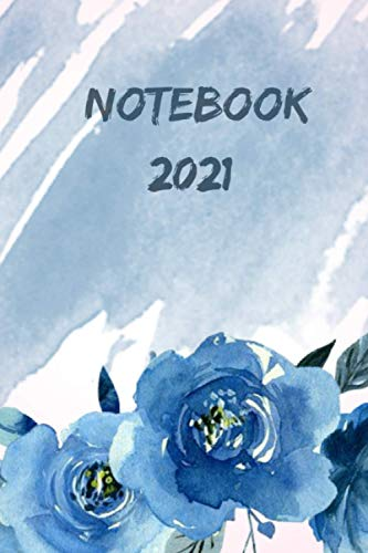 """NOTEBOOK 2021: Lined Journal, 6"""" X 9"""", Hardcover, Back Pocket, Strong Twin-Wire Binding with Premium Paper, College Ruled Spiral Notebook/Journal, Perfect for School, Office & Home"""