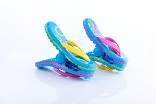 1 paire de pinces en forme de tongs Boca Clips