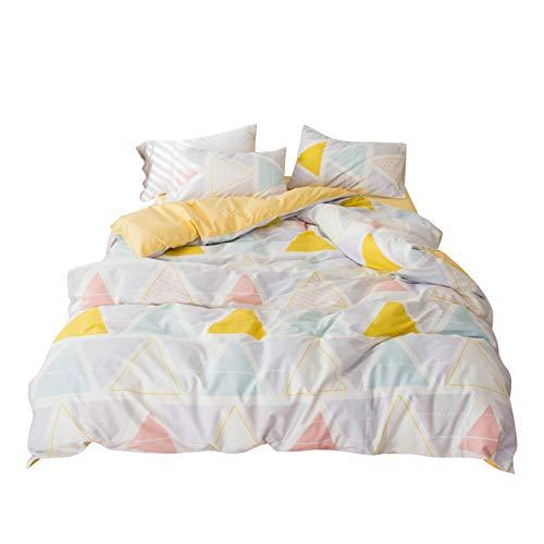 """AOJIM Conjunto de capa de edredom estilo desenho japonês conjunto de roupa de cama com estampa bonita 3 peças Presentes de cama para meninos e meninas, Japanese Style#2, Standard Twin(68'' x 86"""")"""