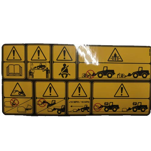 Best Prices! Boss Part # BXP16990 - Blade Warning Box Plow Warning Decal Sticker Replaces MSC01868