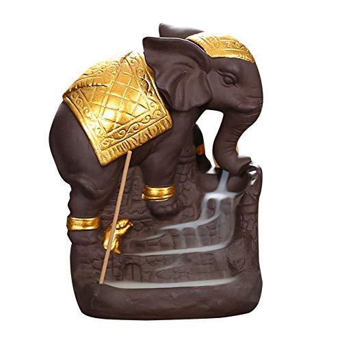 XUDREZ Elephan - Soporte para incienso (cerámica), diseño de cascada