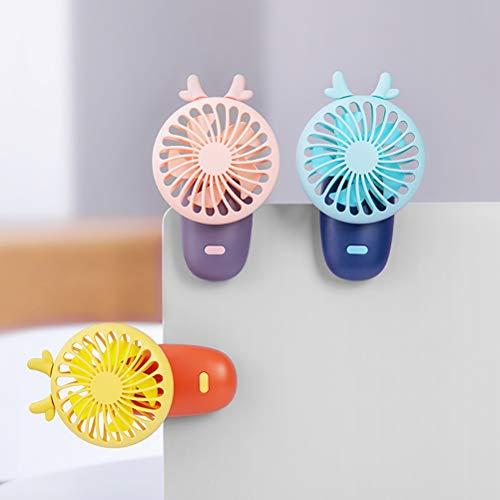 Yissma Ventilador de Mano para niños USB portátil Refrigerador portátil 3 velocidades Ajustables Ventilador Personal para Actividades Interiores y Exteriores