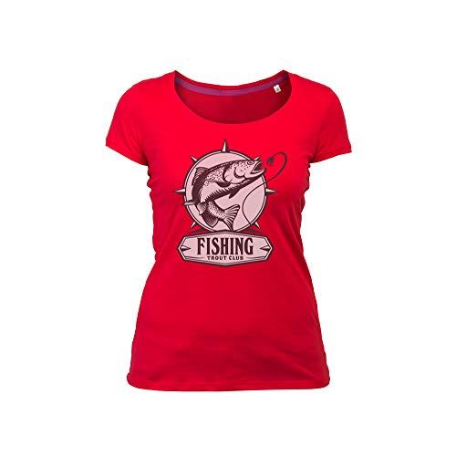 Wild Soul Tees Vrouwen T-Shirt Vissen | Grafische Sticker Ontwerp | Logo | Kleding | Kleding lijn
