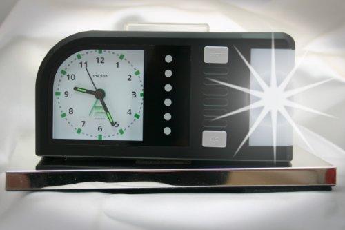 Analoger Lichtwecker Humantechnik Time Flash, Schwarz