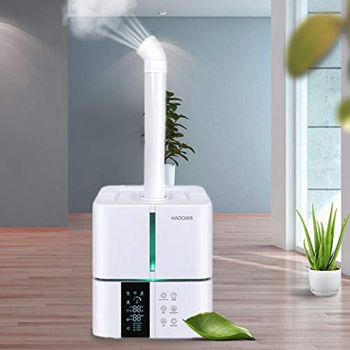 Kacsoo 5L Intelligenter Luftbefeuchter, Raumluftbefeuchter Mit Fernbedienung, 36db stumm, automatische Abschaltung ohne Wasser, geeignet für Innenräume, Einkaufszentren, Büros, Toiletten(30W)