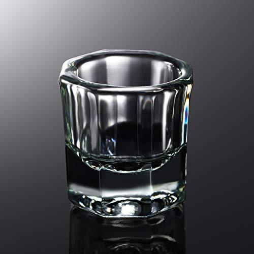 Acryl Flüssigkeit Glas Kristall Schale Tasse Nagel Dappen Glasschale Kristall Klares Glas Nagel Werkzeuge Kunst Glas Tasse