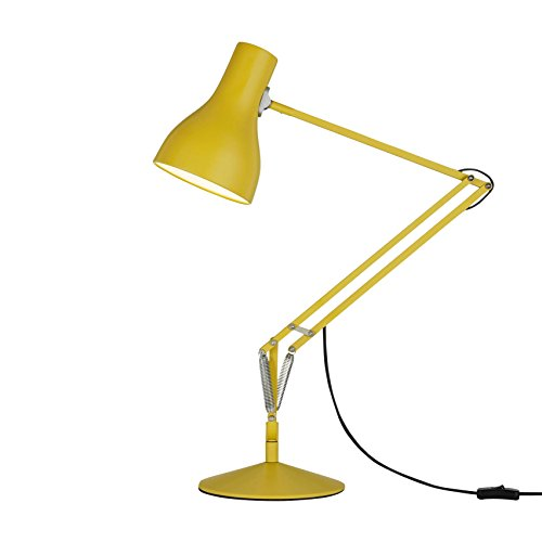 Anglepoise - Lámpara de mesa, aluminio hierro metal acero, amarillo ocre, Höhe max.66 x Diffusorhöhe 19 x Diffusordurchmesser 14 x Fußdurchmesser 20 x Armlänge 32 cm