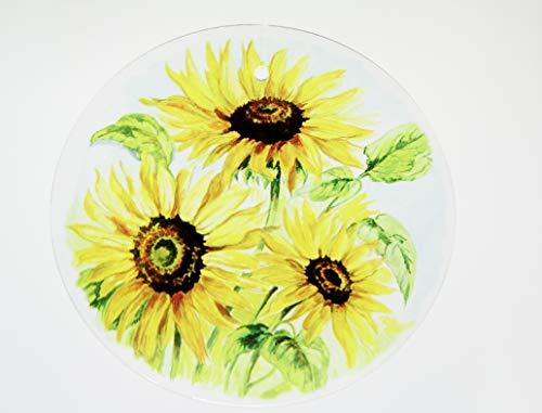 Acrylglas Fensterbild Sonnenblume rund 7cm