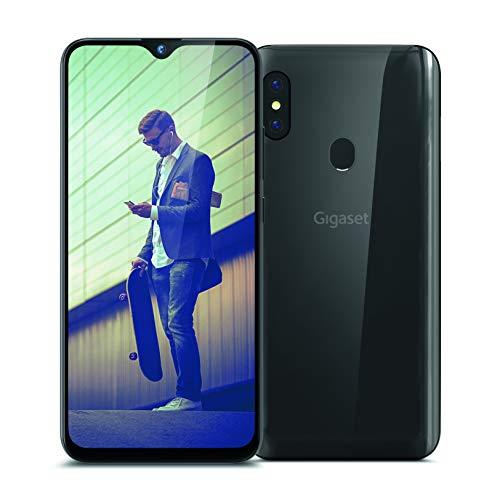 Gigaset GS290 Allrounder Smartphone (16 cm (6,3 Zoll) V-Notch Display, 4GB RAM, 64GB Speicher, Android 9.0 Pie, ohne Vertrag mit Clearcover zum Schutz) titanium grey