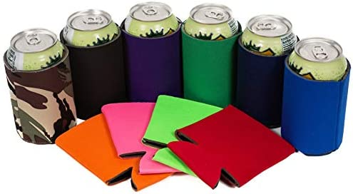 QualityPerfection Beer Can Cooler Sleeves Blank Coolies Sublimation HTV Insulated Collapsible product image