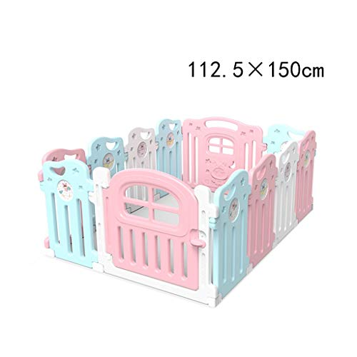 Best Bargain TLTLYEWL Baby Fence, Baby Play Fence Children Crawling Shatter-Resistant Fence Indoor H...