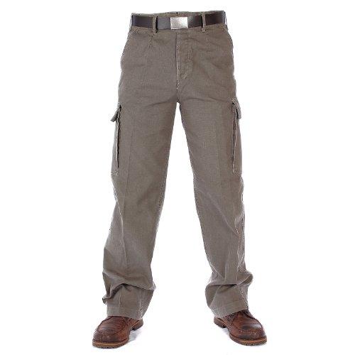 Pantalon Moleskine Lavé - Olive Drab - 50 Pouces - X-Long (66)