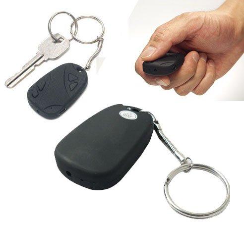 Logi-Link diseño llave de coche, llavero, Micro Mini cámara espía oculta grabadora de vídeo digital, compatible con tarjeta Micro SD