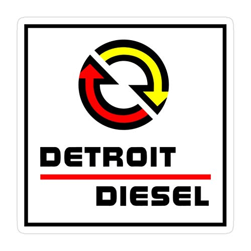 Elizabeth 3 PCs Stickers Detroit Diesel 3×4 Inch Die-Cut Wall Decals for Laptop Window Car Bumper Helmet Water Bottle
