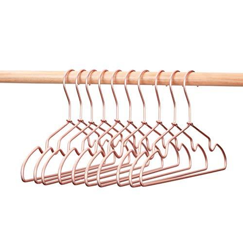 Koobay 125 Children Matt Aluminium Rose Gold Copper Coat Suit Clothes Hangers 10PCS
