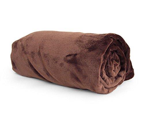 『昭和西川 マイクロファイバー毛布 洗えるフランネルタッチ シングル 140×190cm ブラウン 20700004 12AM 【64572】』の1枚目の画像