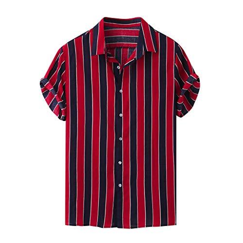 Yowablo Herren Tops Muskelshirts Unterhemd Tank Top Tankshirt Achselshirts Trägershirt Stringer T-Shirt Sport Stringer (3XL,11Rot)