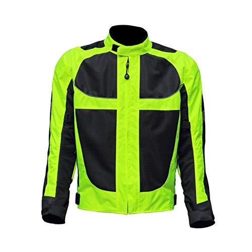 NCBH Traje de Moto para Hombre Reflexivo Elegante Comodidad Chaqueta de Moto con Forro Desmontable Apto para Cuatro Estaciones,Jacket,XXXL