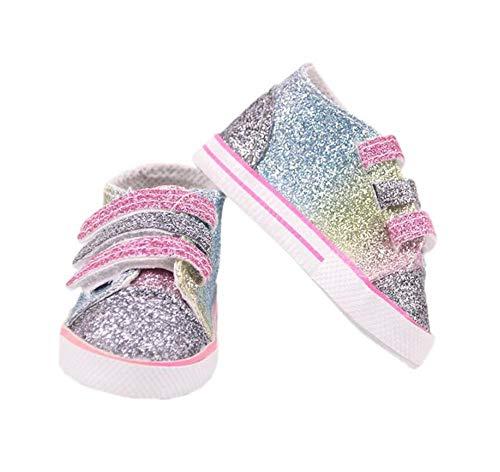 DUORUI Doll Shoes Sneakers con Paillettes per American Girl Bambola 18 Pollici