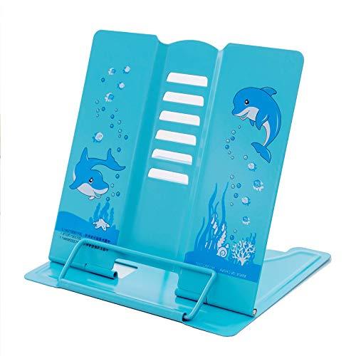 Leggio Metallo Fermalibri Leggio Regolabile Holder Book Holder Stand Lettura Tablet Cookbook Titolare Contabile del Fumetto dei Capretti Multifunzionale Leggio Supporto per la Cucina Ufficio Scuola