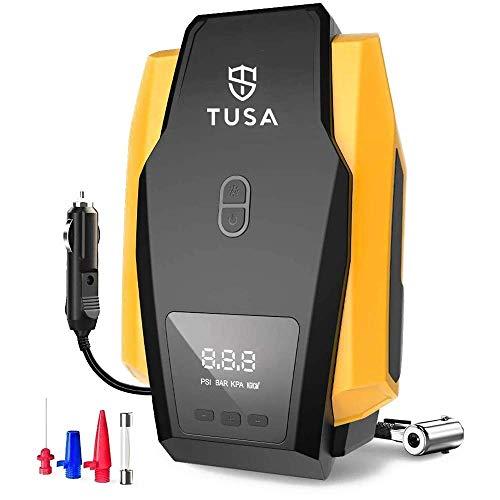 TUSA Digital Air Compressor Pump - 12V Digital Car Tyre Inflator with Auto shutoff (2 Years Warranty)