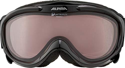 ALPINA Skibrille Freespirit, schwarz transparent qlh (black transparent qlh), One size, A7008-031,