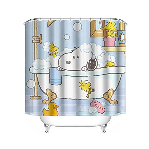 FgolphdCartoon Snoopy Duschvorhang, Anime Snoopy Bunt Shower CurtainsWasserdicht, Duschvorhang180x200180x180 Dekorieren Sie Ihr Badezimmer (200 * 200,39)