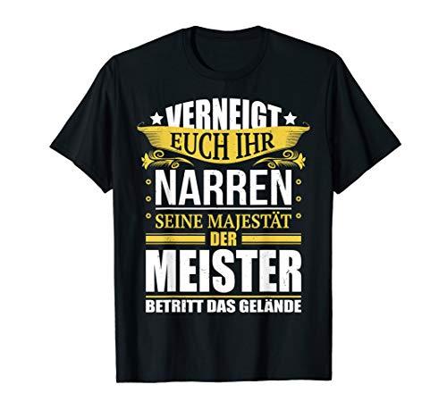 Herren Meister Shirt Meisterprüfung Geschenk Meisterprüfung T-Shirt