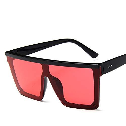 KOOBK Sonnenbrille Damen,Flat Top Square Sonnenbrille Frauen Männer Promi Sonnenbrille Fahren Für Urlaub Strand Laufen Fahren Fahren Outdoor-Aktivitäten
