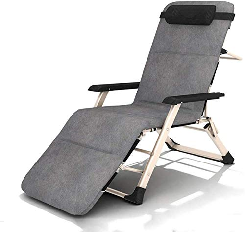Classic Lounge Chairs Sun Lounger/Deck Chair, Zero Gravity Patio Folding Lounger Chair Beach Lawn Camping Portable Reclining Chair Support 200kg 【Upgrade】