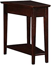 Leick Wedge End Table, Chocolate Oak