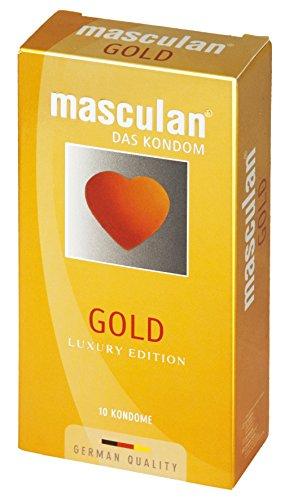 Mascalan condoom goud 10 stuks, per stuk verpakt (1 x 10 stuks)