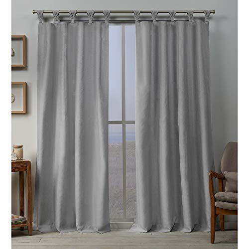 Exclusive Home Curtains Loha BT Panel Pair, 54x96, Dove Grey