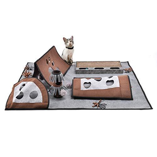 CanadianCat Company ® | Der ultimative Spielteppich 110 x 90 cm für Ihre Katze - die Pföteldecke & Fummeldecke für Katzen