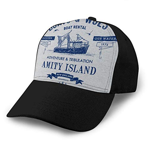 Gorra de béisbol con mandíbulas y botes de alquiler de barcos para...