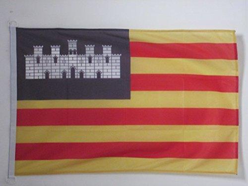 AZ FLAG Bandera Nautica de Las Islas BALEARES 45x30cm - Pabellón de conveniencia BALEÁRICA 30 x 45 cm Anillos