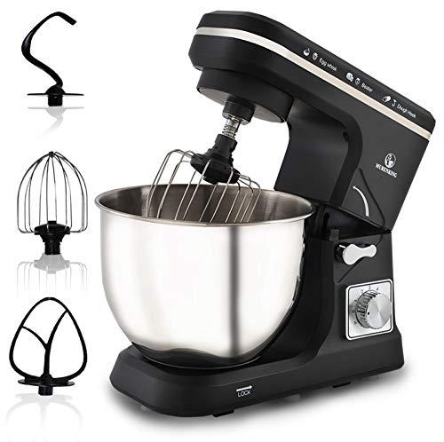 Stand Mixer, 500W Professional Electric Kitchen Mixer Food Mixer, 6-Speed Tilt-Head Dough Mixer with 5-Qt Stainless Steel Bowl, Mixing Beater, Dough Hook, Scraper &Splash Guard