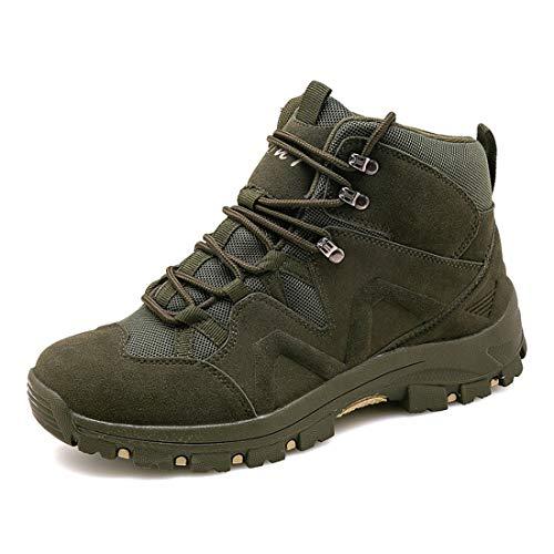 Eisrumu Unisex - Erwachsene Stiefel Herren Damen Militärstiefel Kampfstiefel rutschfest Einsatzstiefel Tactical Boots Armeegrün 38 EU