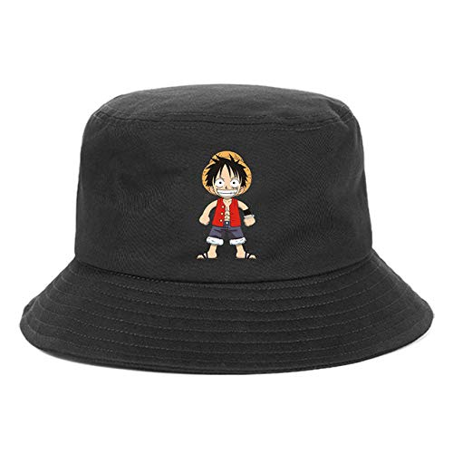 VGFTP The Pirate King Impreso One Piece Anime Fisherman's Hat, Unisex Bucket Hat Beach Sun Hats, Hombres Mujeres Fisherman Hats Gorras al Aire Libre