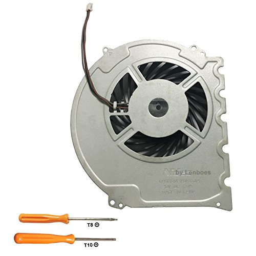 lenboes Internal CPU GPU Cooling Fan Replacement Part for Sony Playstation 4 PS4 Slim Console CUH-2015A CUH-2016A CUH-2017A CUH-20XX with Opening Tool Kit