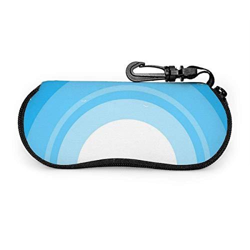 sherry-shop Sonnenbrillenetui Große Tasche von Hay White Flying Birds Sonnenbrillenetui Weiches, ultraleichtes, tragbares Reißverschluss-Brillenetui