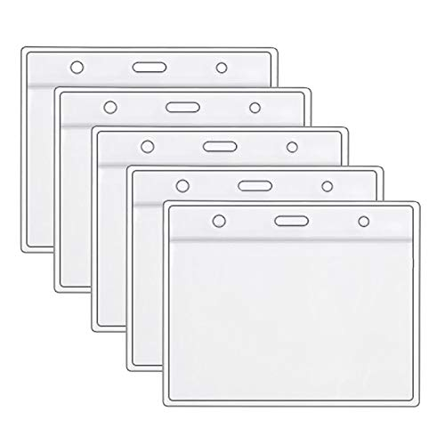 3/5/10 pcs Health Card ID Protective Case Waterproof PVC Soft Card Case Protector 4 X 3 in Health Card Name Tag Badge Cards Holder Clear Plastic Sleeve with Waterproof Type Resealable Zip (5pcs)